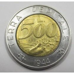 500 lire 1991 - Terra Ospitale