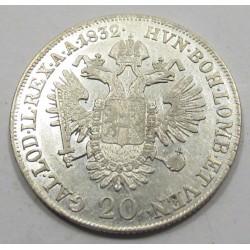 Franz I. 20 kreuzer 1832 A