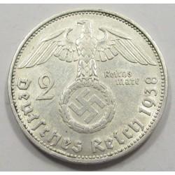2 reichsmark 1938 J