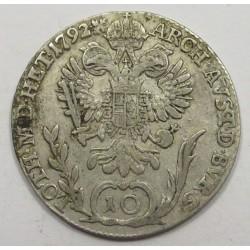 Leopold II. 10 kreuzer 1792 B