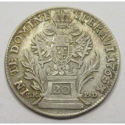 Franz I. 20 kreuzer 1765 S.K.P.D.