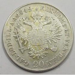 Ferdinand I. 20 kreuzer 1842 E