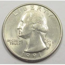 quarter dollar 1991 D
