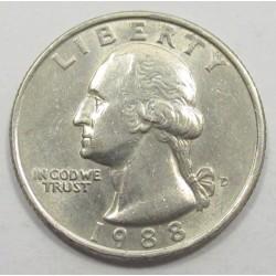 quarter dollar 1988 D