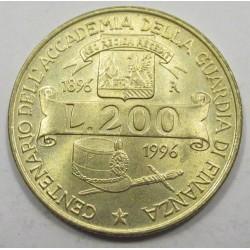 200 lire 1996 - Guardia di Finanza Academy