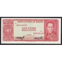 100 bolivianos 1962