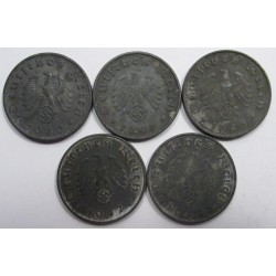 10 reichspfennig set 1940-1944