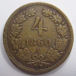 4 krajcár 1860 A
