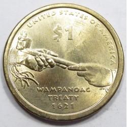 1 dollar 2011 - Wampanoag Treaty