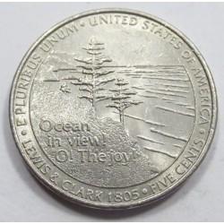 5 cents 2005 P - Lewis és Clark explorers