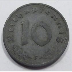 10 reichspfennig 1942 F
