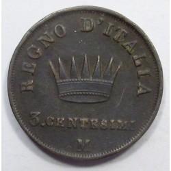 3 centesimi 1811 M