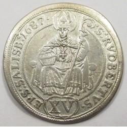 Johann Ernst 15 kreuzer 1687 Salzburg