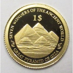 1 dollar 2013 PP - 7 Wonders of the World Pyramids of Giza