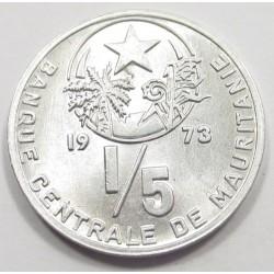 1/5 ouguiya 1973