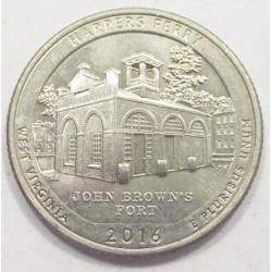 quarter dollar 2016 D - Harpers Ferry
