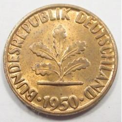 1 pfennig 1950 G