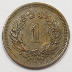 1 rappen 1919 B