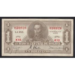 1 boliviano 1952