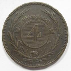 4 centesimos 1869