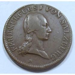 Ferdinand III. Salzburg archdiocese 1 kreuzer 1804