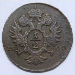 Franz I. 1/2 kreuzer 1800 A