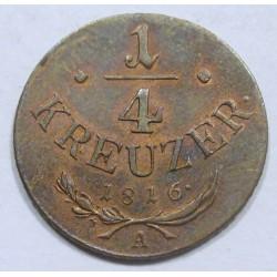 Franz I. 1/4 kreuzer 1816 A