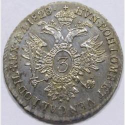 Franz I. 3 kreuzer 1828 B