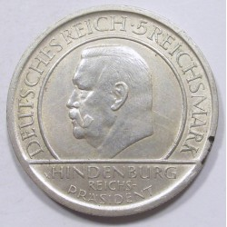 5 reichsmark 1929 A - The Weimar constitution 10th anniversary