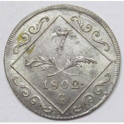 Franz I. 7 kreuzer 1802 C