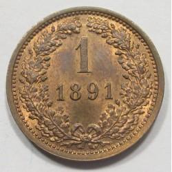 1 kreuzer 1891