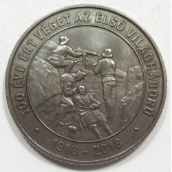2000 forint 2018 - World War I. ended 100 years ago