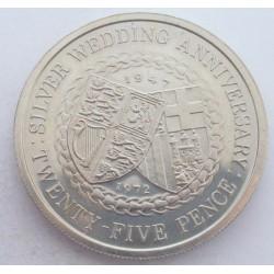 25 pence 1972 - II. Elizabeth's Silver Wedding