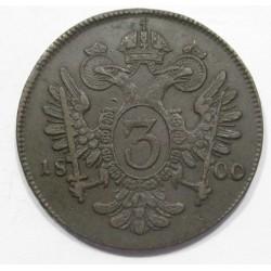 Franz I. 3 kreuzer 1800 C