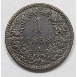 1 kreuzer 1858 A
