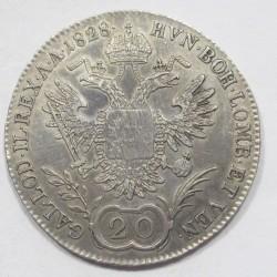 Franz I. 20 kreuzer 1828 B