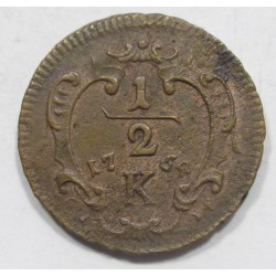 Franz I. 1/2 kreuzer 1764 K