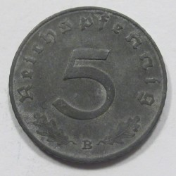 5 reichspfennig 1940 B