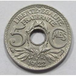 5 centimes 1922