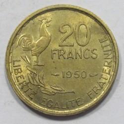 20 francs 1950
