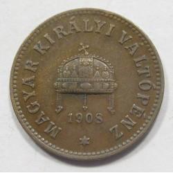 2 fillér 1908