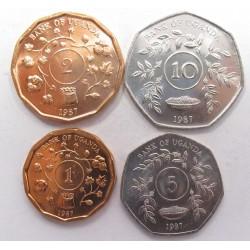 Uganda coin set 1987
