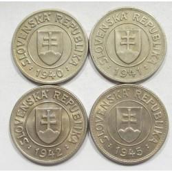 1 koruna 1940-41-42-45 set
