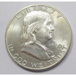 Franklin half dollar 1960