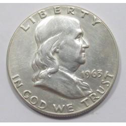 Franklin half dollar 1963