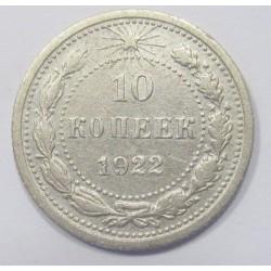 10 kopeks 1922
