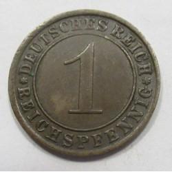 1 reichspfennig 1925 J