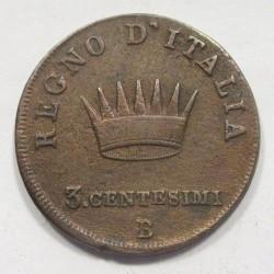 3 centesimi 1808 B