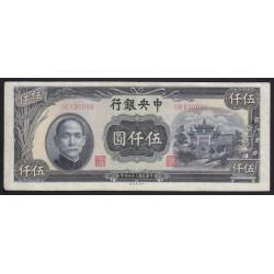 5000 yuan 1945