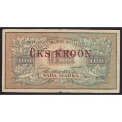 1 kroon/100 marka 1928